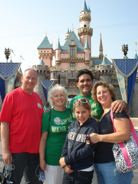 Family in 2009 at Disneyland